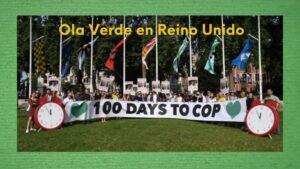 imagen protestas en Reino Unido 100 días antes de la COP