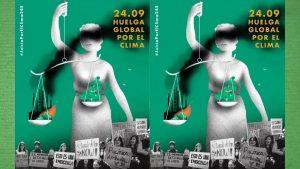 Imagen cartel de la huelga general por el clima