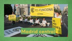 Foto de Greenpeace ante Madrid Central